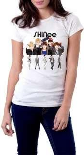 SHINee T Shirt Hoodie KPOP Korean Band White Tee S XL