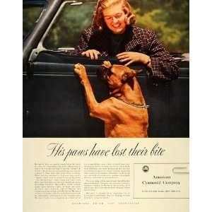 1940 Ad American Cyanamid Company Car Finish Dog Paws