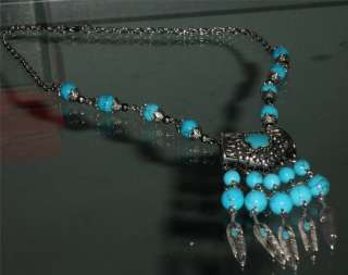 NeW TIBET STYLE TIBETAN SILVER AND TURQUOISE NECKLACE✿