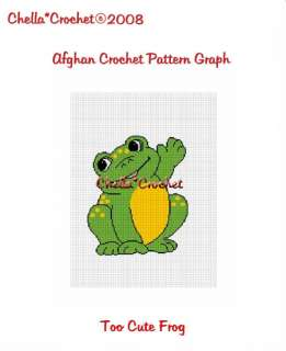 Say Hello to Baby Frog Afghan Crochet Pattern Graph