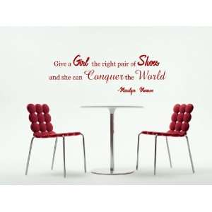 Can Conquer The World Marilyn Monroe Vinyl Wall Decal