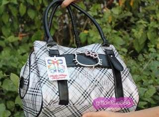 Hello Kitty shoulder bag shopping HandBag grid 866G