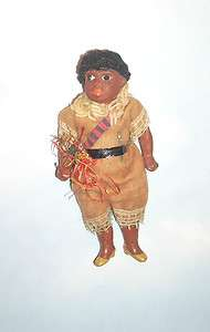 Antique German Composition American Indian Doll