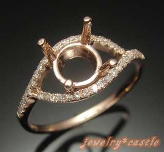 10K ROSE GOLD NATURAL DIAMOND SEMI MOUNT SETTING WEDDING RING