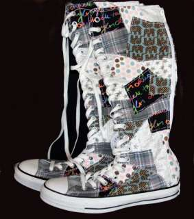 Converse PATCHWORK Elephants Plaid Polka Dots Stars XXHI Knee High