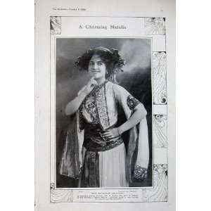 1908 Kathleen Courtney Actress Merry Widow Theatre Lady