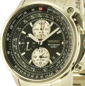 Seiko Mens Flightmaster Chronograph Alarm 100m Watch SNAB67 SNAB67P1
