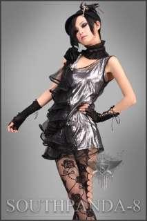 SC094 Silver Punk Rock Casual Tank Tops Fashion Cool