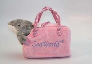 Seaworld Plush Dolphin w/ Pet Carrier Purse Brand New