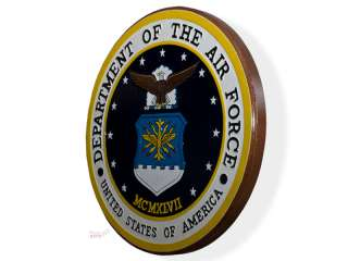 Department of the Air Force Seal Wood Podium Plaque