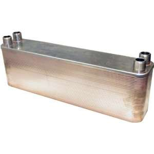 Plate 1 Male NPT Stainless Steel Copper Brazed Plate Heat Exchanger