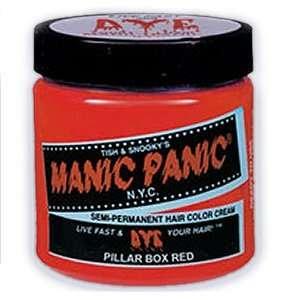 MANIC PANIC Semi Permanent Hair Color Cream Pillarbox Red