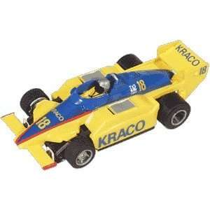 BSRT   Kraco Indy Car 440 T2 Yell/Blue #18 Slot Car (Slot