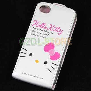 Hello Kitty Flip Leather Case Cover For iPhone 4 4G C4