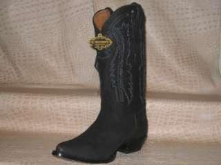 New 2011 Mens Nubuck Black Western Cowboy Boots