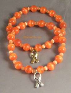 MS MULTIPLE SCLEROSIS Awareness Cats Eye Stretch Bracelet w/ HOPE