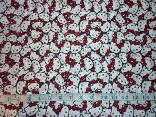 FQ SANRIO HELLO KITTY CROWDED FACES FABRIC RETRO KITSCH