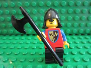 LEGO VINTAGE CASTLE KNIGHT CRUSADER AXE DRAGON MINIFIG HELMET WEAPON