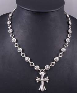 21 98g HUGE HEAVY CELTIC CROSS 925 STERLING SOLID SILVER MENS CHAIN