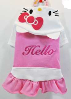 NEW cute dog clothes dress apparel pink yellow free toy