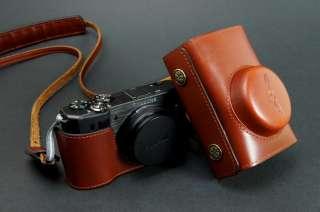 Real Leather Camera case bag for Samsung EX1 EX 1 Strap