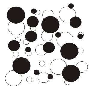 set of 106 White and Black polka dots Vinyl wall lettering