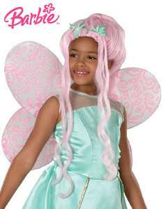 BARBIE FAIRYTOPIA DAHLIA CHILD SIZE LONG PINK WIG HALLOWEEN COSTUME