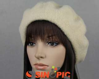 12Various Colors FASHION Lady Womens BERET WOOL FRENCH HAT FANCY