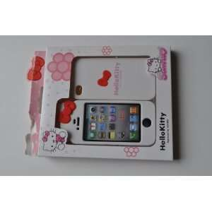White Hello Kitty Back Cover Skin Case for Iphone 4 4g 4s At&t Verizon