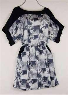 RWW~New Trendy Couture Black Gray Pocket Blouson Mini Dress Juniors