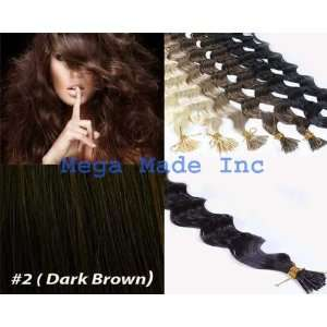 New 25 Strands Deep Wave Curly Micro Ring Links Needle Stick Head I