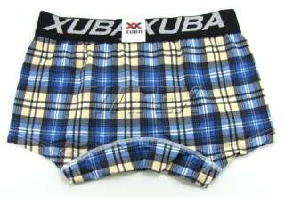 Viscose Men's checkered Boxers Trunks Underwear casual shorts XS S M