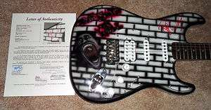 Roger Waters PINK FLOYD Signed THE WALL Custom Airbrushed Guitar JSA