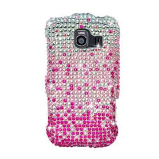 Pink WATERFALL Bling DIAMOND Rhinestone Snap On Case for LG OPTIMUS S