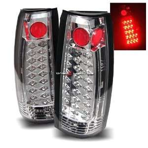 88 98 GMC Sierra LED Tail Lights   Chrome Automotive
