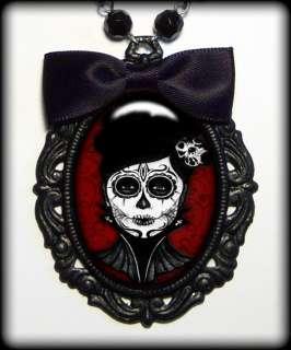 Dia De Los Muertos Dead Girl Pendant Necklace 298 F