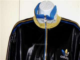 NEW ADIDAS CHILE 62 TRACK TOP RIBBED JACKET MENS WOMENS BLACK/GOLD