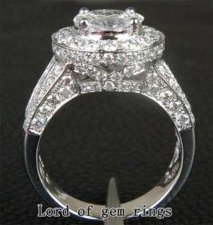 HEAVY 5.18ct VS SI/H DIAMOND 14K White GOLD MENS ENGAGEMENT Wedding