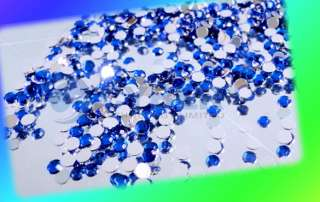 3000 x Mix Color Teardrop Nail Art Rhinestones Deco Gem