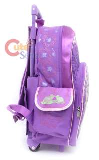Disney Princess Tiana Shcool Rolling Backpack Bag 3