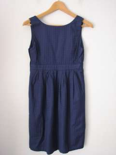 DIVIDED Retro Navy Blue Polka Dot Pattern Baby Doll Style Dress XS