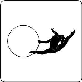 Rhythmic Gymnastics Wall Decal Art Stickers Mural, GLOSS