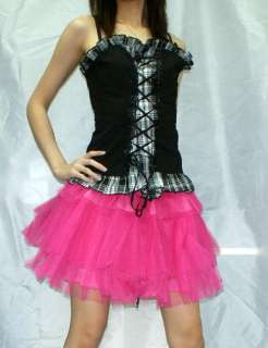 Diy red tutu mini skirt lolita gothic punk rock emo NEW