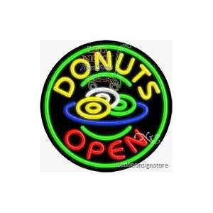 Donuts Neon Sign 26 Tall x 26 Wide x 3 Deep Everything