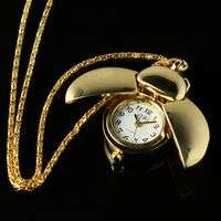 New Cross Chain Women Man Pocket Watch Mens Blue Clip Quartz Battery