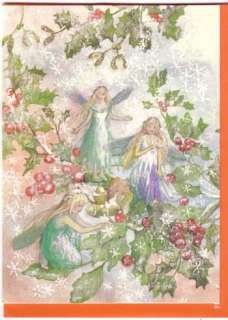 FOREST FAIRIES CHRISTMAS Cards Gift Set Gold Bag