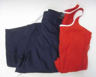LOT 2 NIKE Red Sleeveless Shirt Navy Track Pants Small