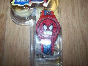 Spider Man LCD Watch Wristwatch Red Blue Childrens New