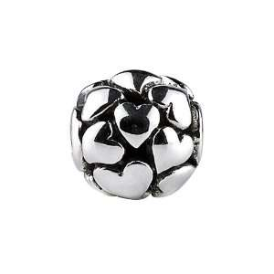 Sterling Silver Focal Love Hearts Bead / Charm Finejewelers Jewelry
