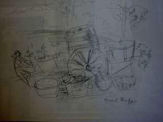 Raoul Dufy Original Drawing The Gardner
